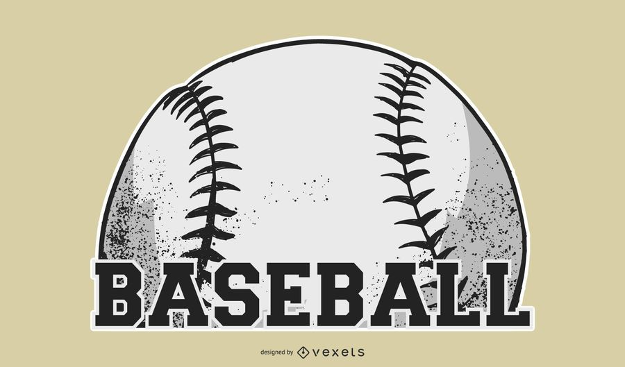 Baseball Ball Sticker Design