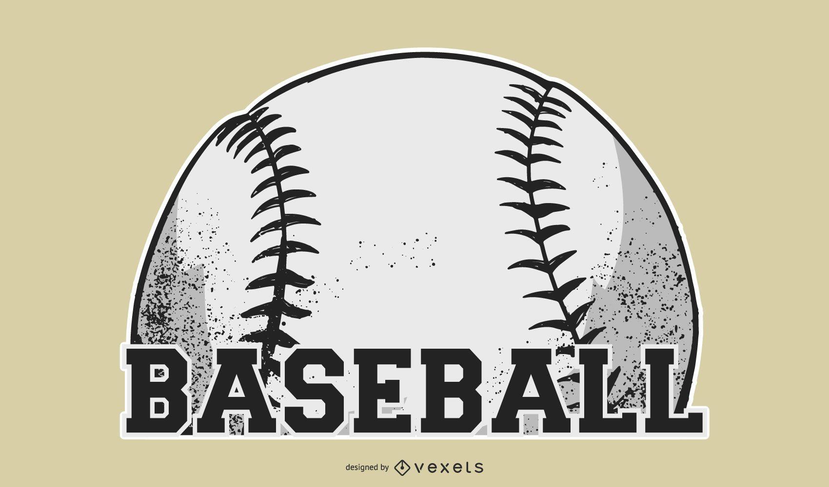 Dise?o de etiqueta de pelota de b?isbol