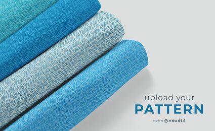 Fabric rolls mockup