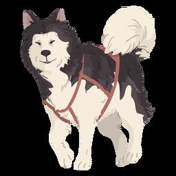 ilustração de lobo fofo