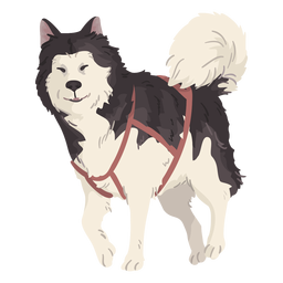 linda ilustración de lobo