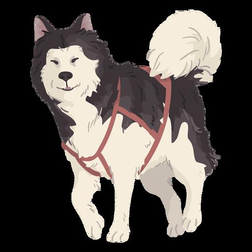 cute wolf illustration