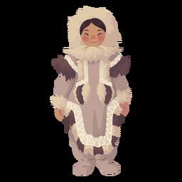 linda chica esquimal de pie