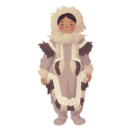 menina esquimó bonito em pé