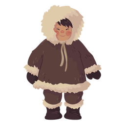 cute eskimo boy smiling