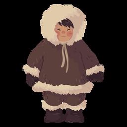 süßer eskimo junge lächelnd