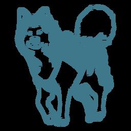lindo trazo de lobo