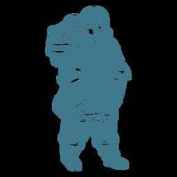 süßes Eskimomädchen mit Baby auf Rückenschlag