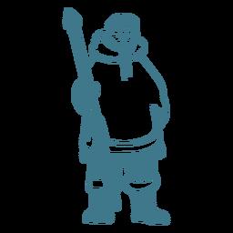 hombre esquimal con golpe de lanza