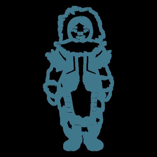 linda chica esquimal de pie trazo Transparent PNG