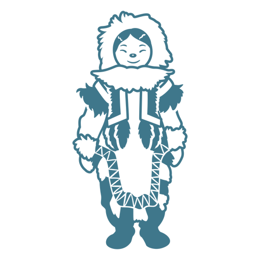 Stehender Anschlag des netten Eskimomädchens Transparent PNG