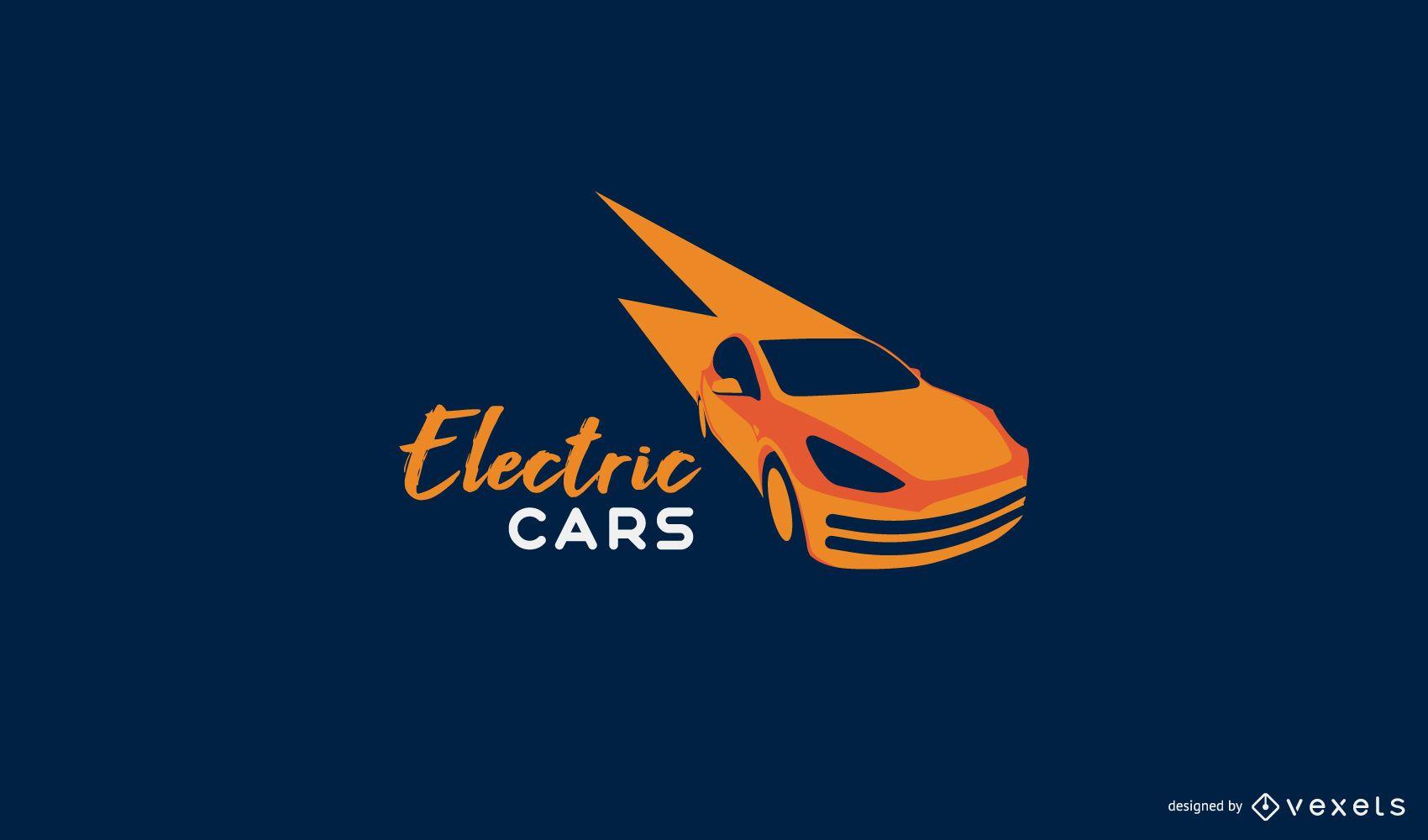 Modelo de logotipo de carro elétrico