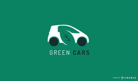 Green car logo template