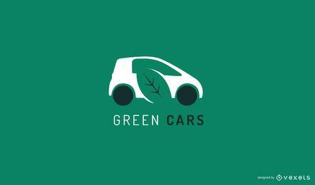 Modelo de logotipo de carro verde