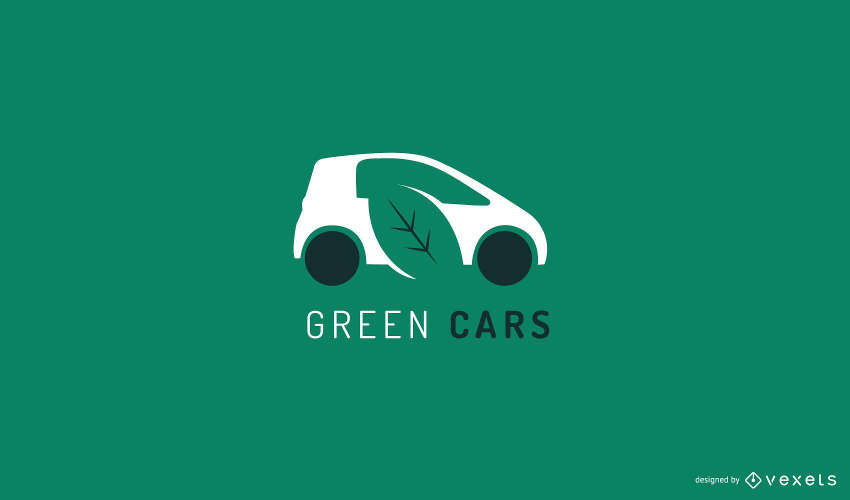 Plantilla de logotipo de coche verde