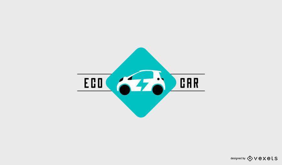 Eco car logo template