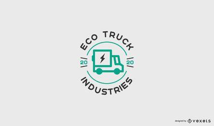 Modelo de logotipo de caminhão ecológico