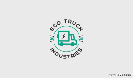 Plantilla de logotipo de camión ecológico