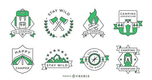 Colección de insignias de camping