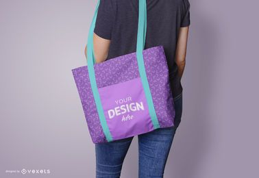 Tote bag model mockup design