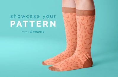 Design de maquete de meias
