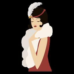 elegante dama de moda de color