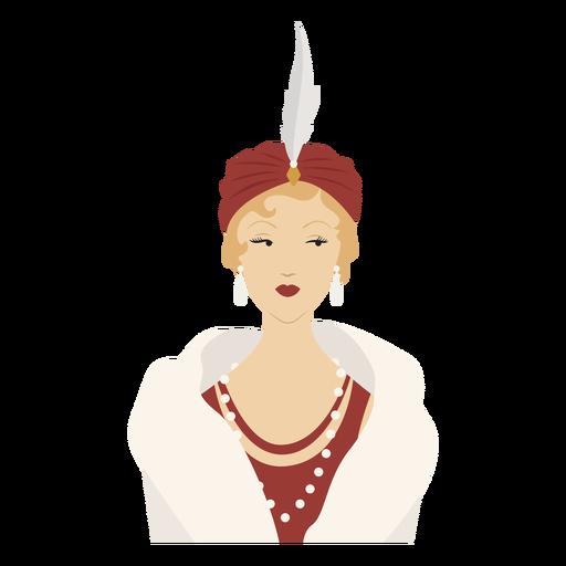 elegante dama elegante de color