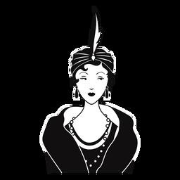 dama elegante con clase dibujada
