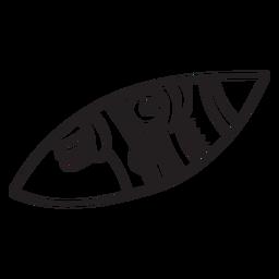 Símbolo abstrato traço asteca