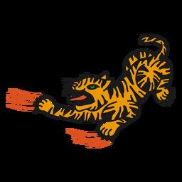 Oldschoo tigre irritado