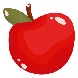 Apple fruit flat