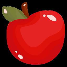 Maçã fruta plana
