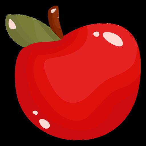 Apple fruit flat Transparent PNG