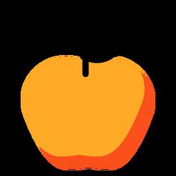Icono amarillo de manzana