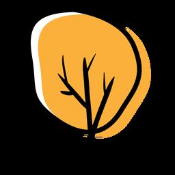 Árvore de outono ícone