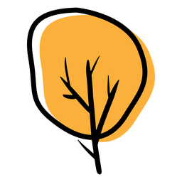 Autumn icon tree