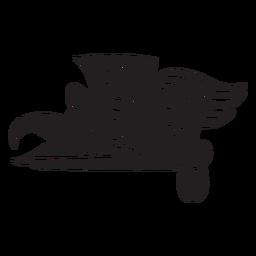 Aztekisches Tier schwarz