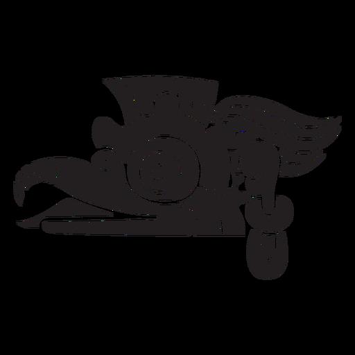 Animal azteca negro Transparent PNG