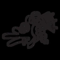 Símbolo de trazo de la civilización azteca