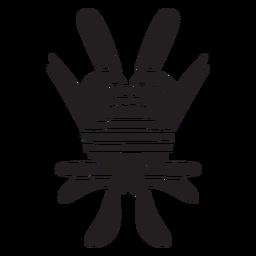 Aztekisches Zivilisationssymbol aztekisch