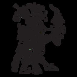 Dioses aztecas ilustración centeol