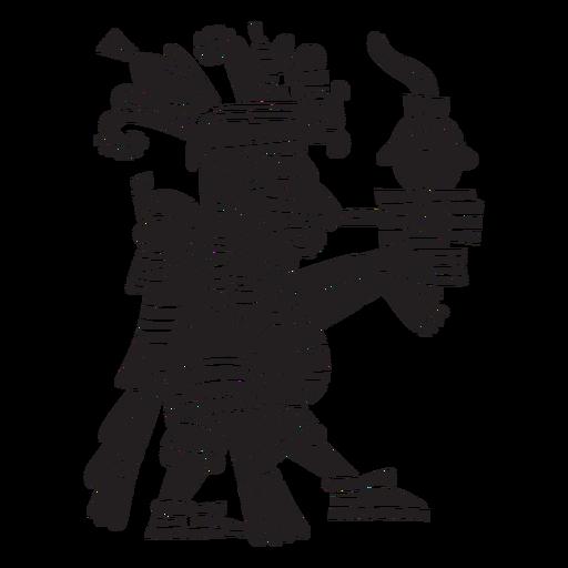 Ilustración de dioses aztecas centeol