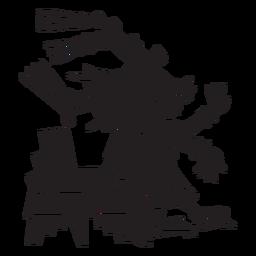Dioses aztecas ilustración centeotl