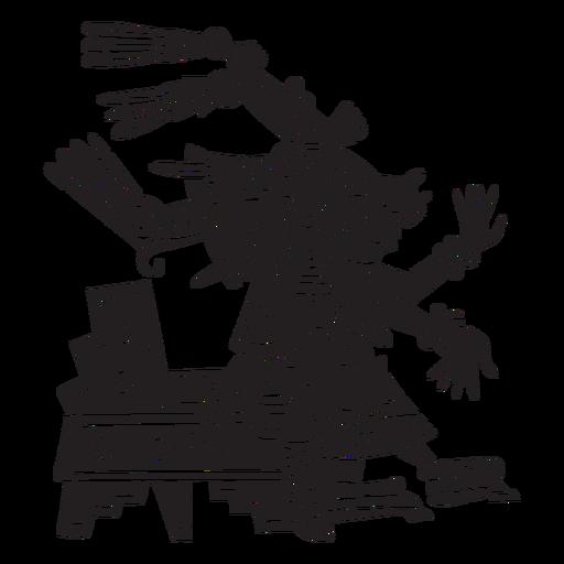 Dioses aztecas ilustración centeotl Transparent PNG