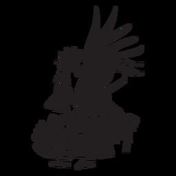 Ilustración de dioses aztecas huitzilopochtli