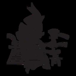 Ilustração dos deuses astecas huitzilopochtli asteca