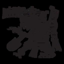 Dioses aztecas ilustración tezcatlipoca