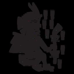 Dioses aztecas ilustración tlaloc