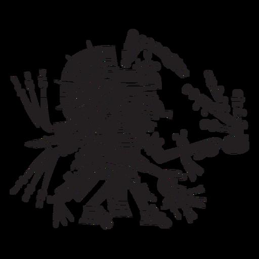 Ilustración de dioses aztecas tonatiuh