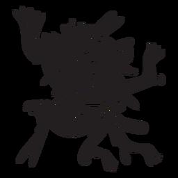 Dioses aztecas ilustración xolotl